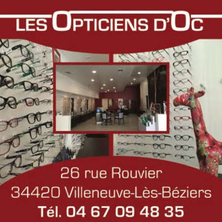 Opticien : LES OPTICIENS D'OC, 62 AVENUE JEAN MOULIN, 34500 BEZIERS