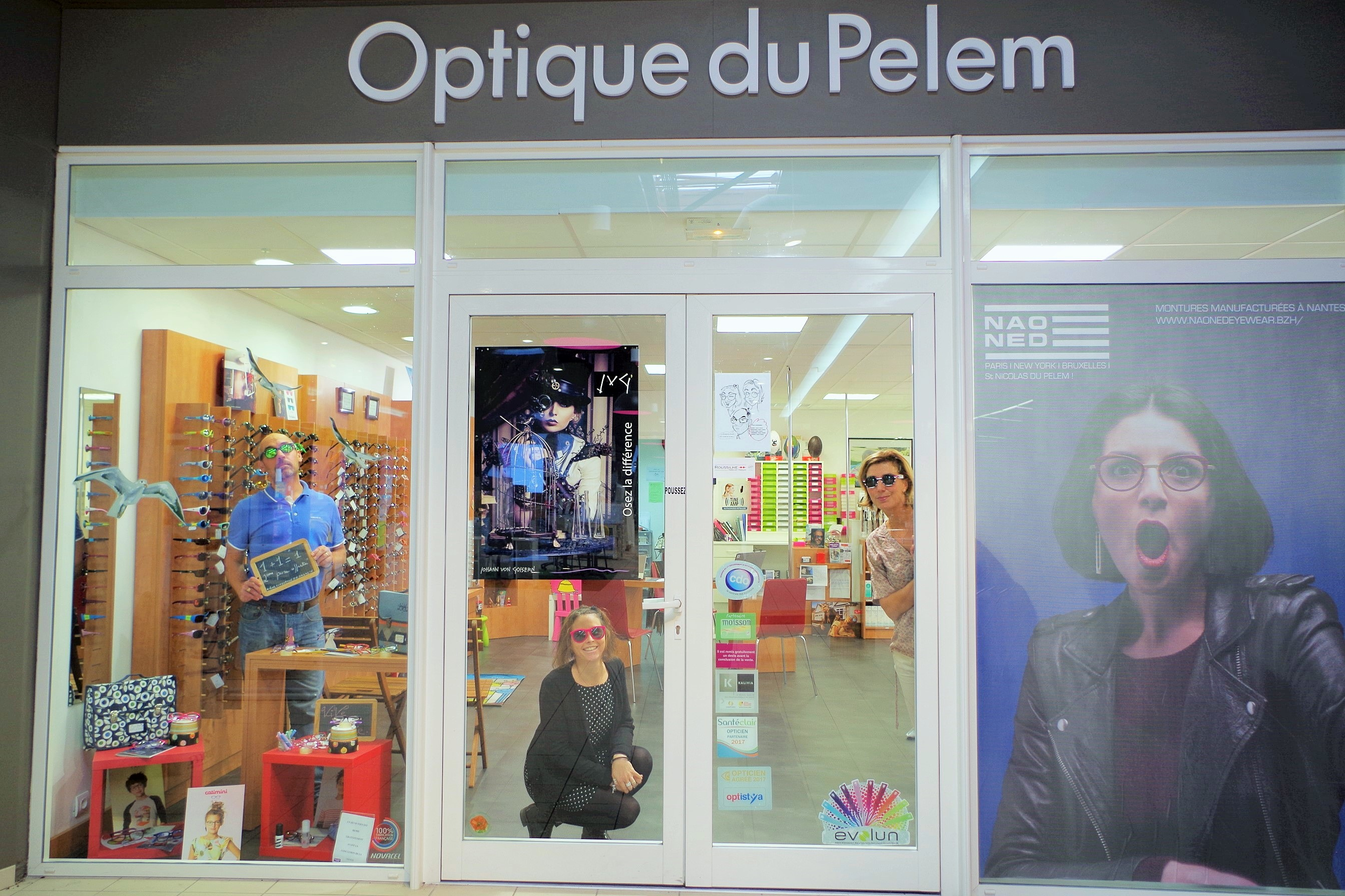 Opticien proposant la marque GEORGE, GINA & LUCY : OPTIQUE DU PELEM,  Croas Don Herry, 22480 SAINT NICOLAS DU PELEM