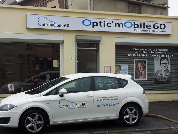 Opticien : OPTIC'MOBILE 60 , 2 Rue Jean de la Fontaine , 60180 NOGENT SUR OISE