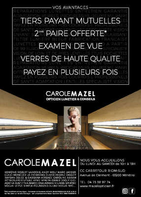 Opticien : MAZEL OPTICIEN,  Avenue de Clermont, 63200 MENETROL