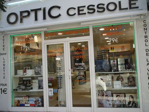Opticien : OPTIC CESSOLE, 108 Boulevard de Cessole, 06100 Nice