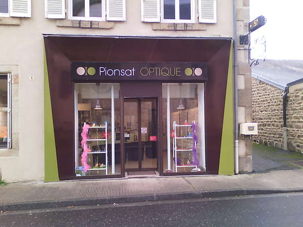 Opticien : PIONSAT OPTIQUE,  1 RUE SAINT BRAVY, 63330 PIONSAT