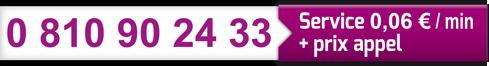 cartouche numéro téléphone Azur