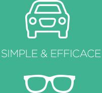 logo voiture et lunettes - simple et efficace